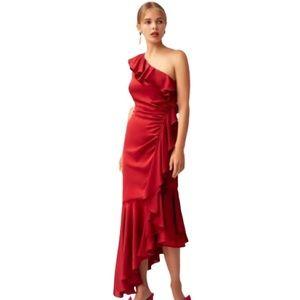 NEW Keepsake the Label One Shoulder Midi Dress